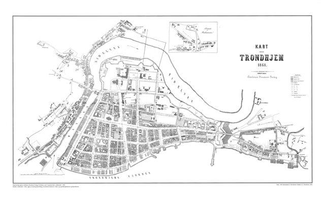 historiske kart trondheim Trondheim 1868   WikiStrinda historiske kart trondheim